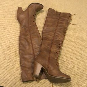 Forever 21 Knee High Brown Boots